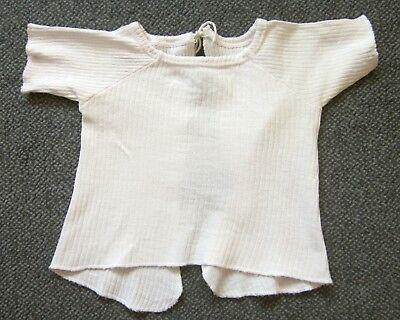 Symbol Der Marke Hemd Hemdchen Für Baby Oder Puppe Weiß Vintage Ausgezeichnet Im Kisseneffekt