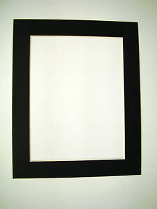 Picture Framing Mats Custom Cut 8x11 With 5 75x8 85 Opening Black