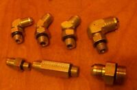 Lot Of 7 Assorted Jic To Sae Adapters- See Description