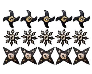 Martial Arts Rubber Foam Throwing Stars Ninja Shuriken Star Practice Set of 90