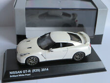 Kyosho 1:43 Nissan GT-R (R35) 2014 brilliant white pearl 03744BW Brand new