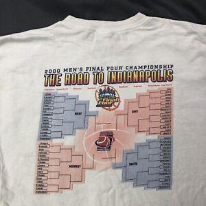Champion 2000 NCAA Final Four Bracket Shirt Sz XXL 64 Dreams Only 1 Way Tee
