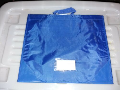 2 BRAND NEW BLUE SCHOOL READING BAG FOR READING BOOKS AND SCHOOL LETTERS.