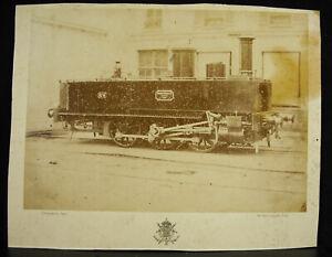 Photography Locomotive Ernest Gouin c1880 Théodule With Courtheoux Steam Train