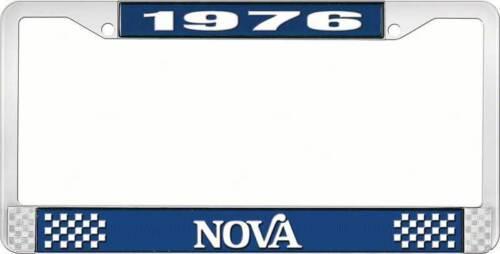 Style 2 Blue 1976 Nova License Plate Frame