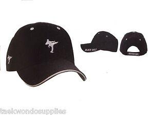 Black Belt Ball Cap Hat   d#H1bb