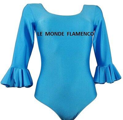 BODY  FEMME/ADO  FLAMENCO/ SEVILLANE  BLEU