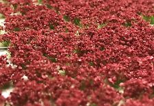 Miniature Self Adhesive Static Flowering Shrub Tufts - 6mm Deep Red Army Pack