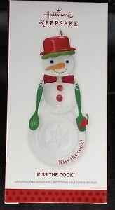 NEW 2013 HALLMARK CHRISTMAS ORNAMENT KISS THE COOK SNOWMAN ...