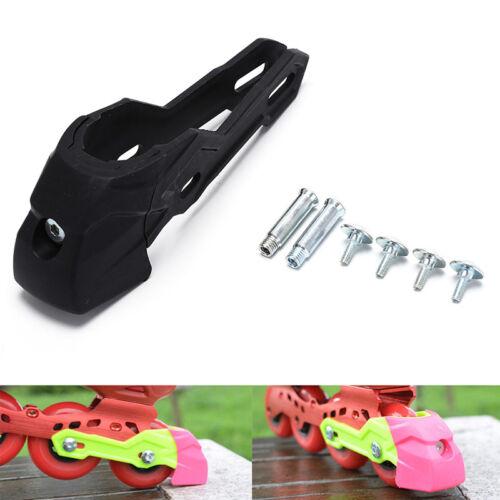 Black Adult Inline Roller Skate Shoes Brakes Pad Brake Blade Safety TDO
