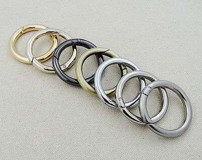 """Snap Clip Trigger Spring Gate O Ring Keyring Buckle Bag Accessories Rings 3/4""""1"""""""
