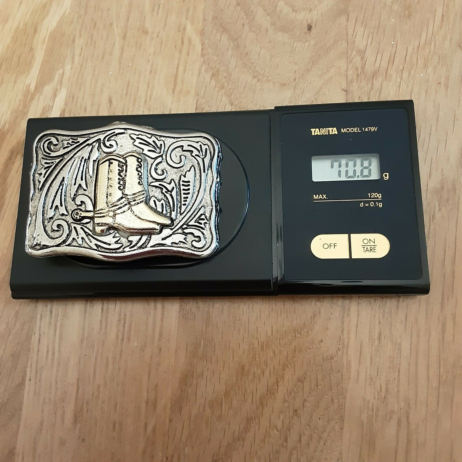 Cowboy Boots belt buckle Western Cowboy Rodeo Texas USA Style 90's Vintage NOS