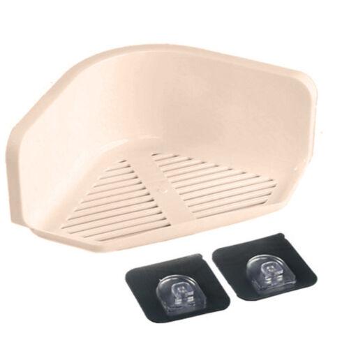 Bathroom Corner Suction Shelf Shower Basket Caddy Rack Bath Soap Holder Storager