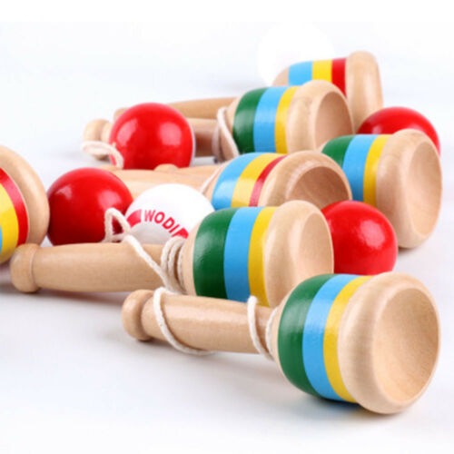 Kids Wooden Ball and Cup Design Catch Skill Game Hand Eye Coordination Toy Gift