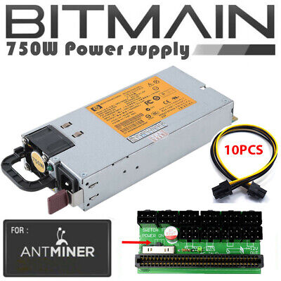 Bitmain Antminer L3 Platinum Rated 94/% 1200w PSU Power Supply Complete Kit