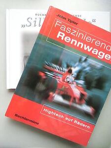 2-Buecher-Faszinierende-Rennwagen-Hightech-auf-Raedern-Silberpfeile