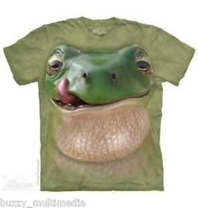 Big-Frog-Face-Shirt-Mountain-Brand-Amphibian-In-Stock-Small-5X-graphic