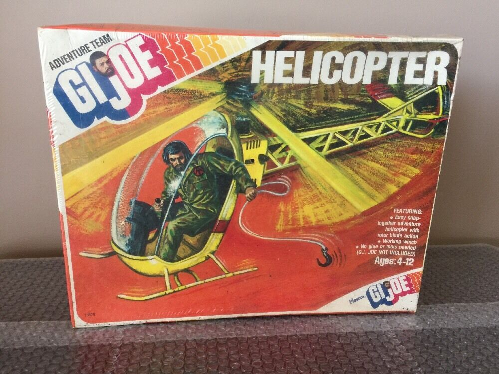 1975 Hasbro GI JOE Yellow Adventure Team Helicopter   FACTORY SEALED  WOW RARE