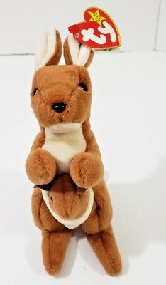 2 in package Pouch Kangaroo new Plush TY Beanie Babies