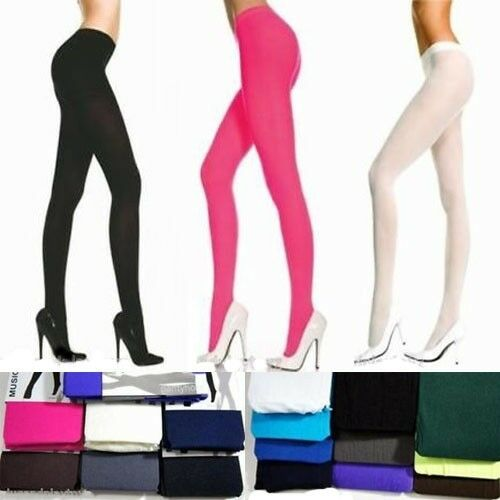 Women's Holiday Solid Ribbed Solid Opaque Tights Stocking Pantyhose Costume OS