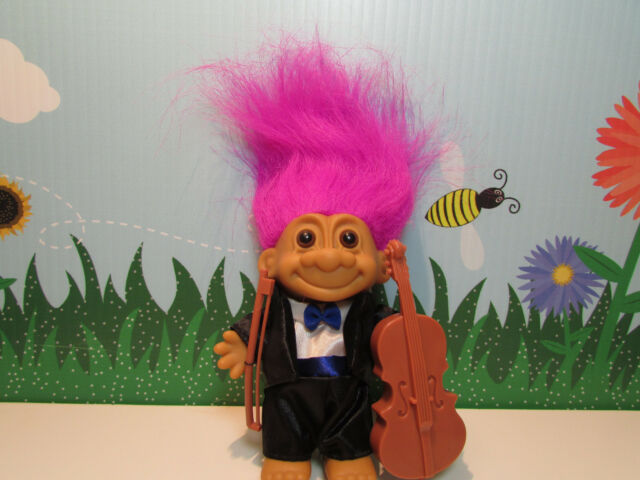 "CELLIST / CELLO - 5"" Russ Troll Doll - NEW IN ORIGINAL WRAPPER"