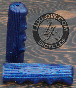 BLUE SPARKLE BICYCLE GRIPS VINTAGE CRUISER SCHWINN STINGRAY BICYCLE LOWRIDER