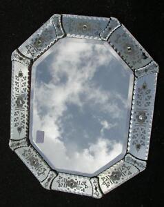 Miroir v nitien octogonal ebay for Miroir venitien
