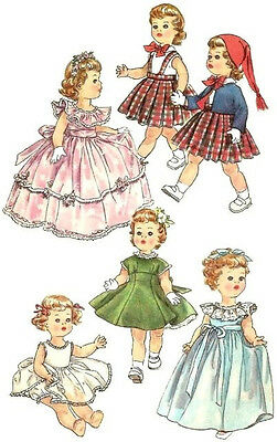 "Vintage Doll Clothes Pattern 1371 ~ size 17"" or 23"" ~ Formal Gowns-Pleated Skirt"