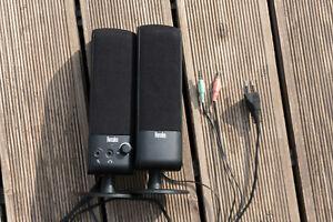 Details zu Hercules Lautsprecher Boxen Speaker stereo 6,6 mm  Lautstärke-Regler für PC, TV