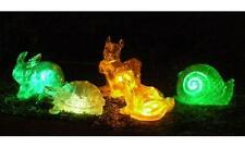 Homebrite Solar Lights Color Changing Animals Set of 5 Yard Outdoor Path Lamps