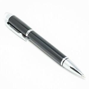 Reino Unido vendido! BAOER #79 De Lujo Negro Crystal Hat Bolígrafo cromado moldura 0.7mm