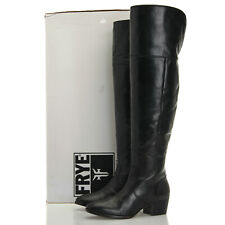 e894fb9a237 Frye Clara Over The Knee Wide Black Leather OTK Boots - Women s ...