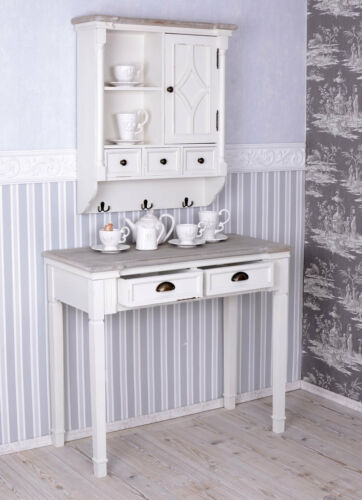 Table console Shabby Chic Console Blanc wandtisch Table D/'appoint Console Table NEUF
