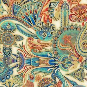 Robert Kaufman Treasures of Alexandria 18845-15 Ivory Egyptian Themed Fabric BTY