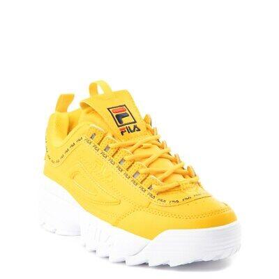 NEW Fila Disruptor 2 Athletic Shoe Yellow Logo Tape Big Kid YOUTH Womens   eBay