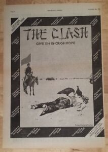 Clash-give-039-em-enough-rope-tour-1978-press-advert-Full-page-28-x-39-cm-poster