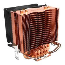 PCCOOLER S83 cpu cooler Copper plating fins 2 heatpipes 80mm/8cm silent fan Y5U2