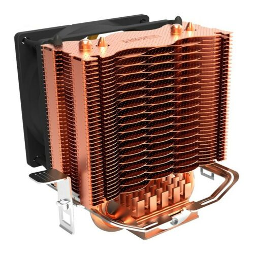 PCCOOLER S83 cpu cooler Copper plating fins 2 heatpipes 80mm//8cm silent fan Y5U2