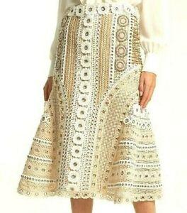 1-294-Jonathan-Simkhai-Eyelet-Embroidered-Lace-Macrame-Dress-Skirt-IT-40-US-4