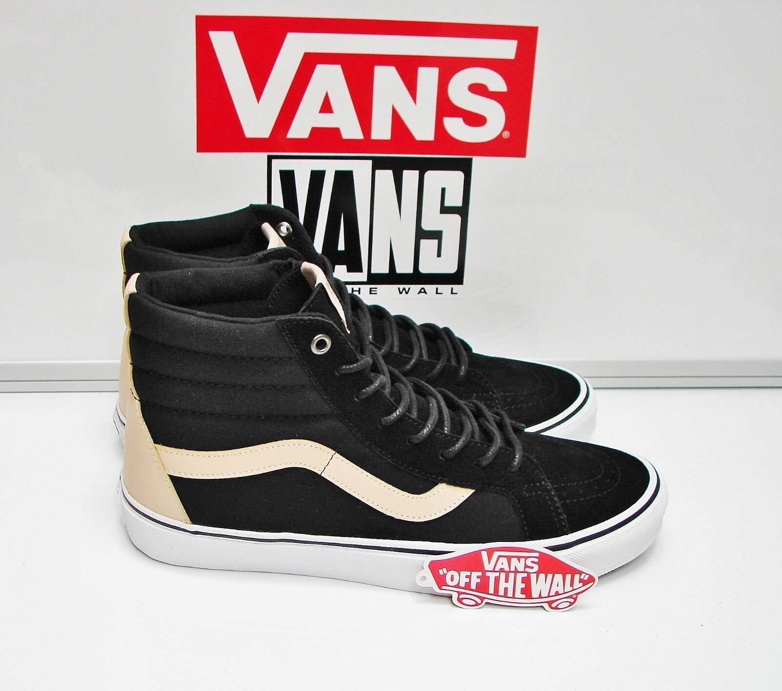 Vans Sk8 Hi Reissue Veggie Tan Black True White VN0A2XSBMN7 Men's Size  9.5