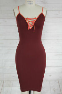 New-Free-People-Intimate-Seamless-Ribbed-Strappy-V-Neck-Bodycon-Slip-Dress-Xs-S
