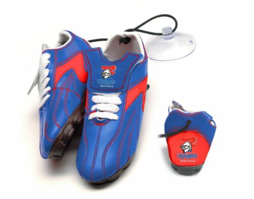 NRL TEAM Newcastle Knights Hanging Suction Footy Boots Birthday Fathers Day Gift