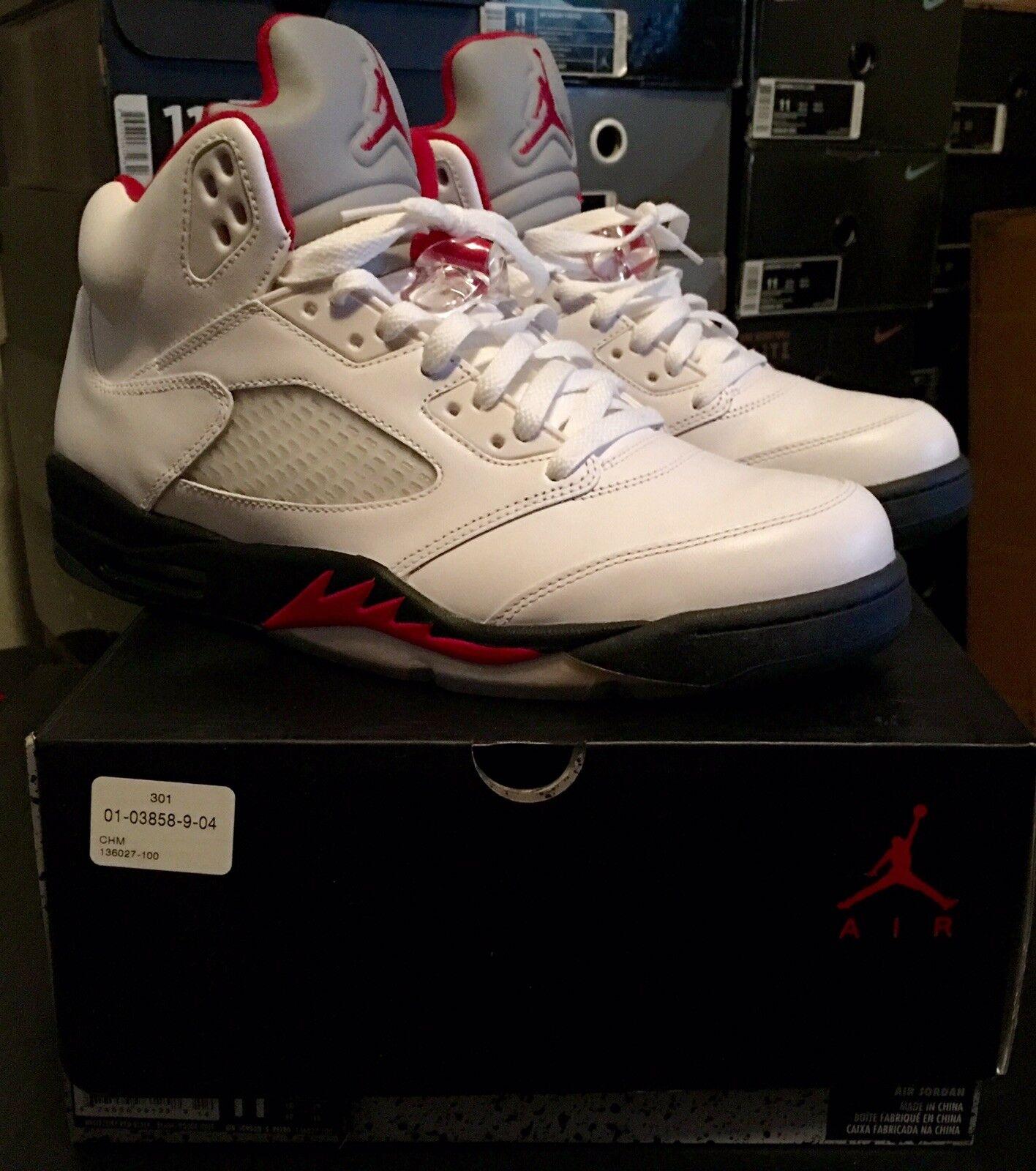 Air Jordan 5 Retro Fire Fire Fire Red Sz 11 100% Authentic DS OG Laney Grape Fear Nike 425905
