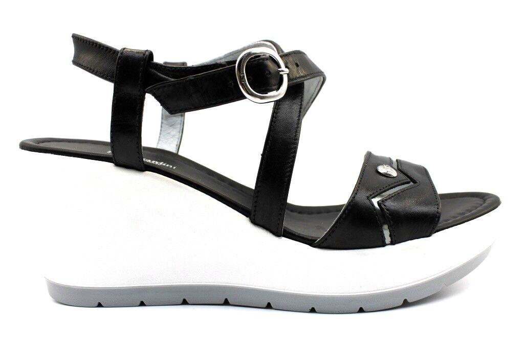 Nero Giardini P805710D Nero Calzature Sandale con Zeppa Damenschuhe