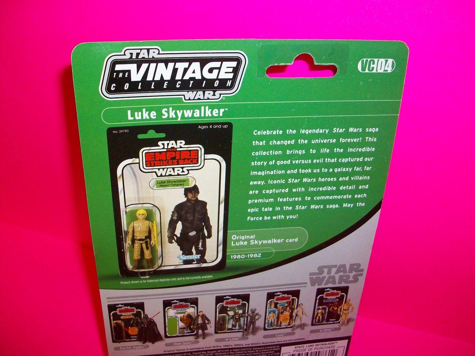 LUKE LUKE LUKE SKYWALKER Bespin Fatigues Vintage Collection ESB STAR WARS Action Figure 04 832674