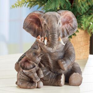 Majestic Walking African Safari Elephant Garden Statue