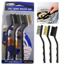 Rust Cleaning 3Pc Wire Brush Kit Metal Surface Polishing Welding Garage Tool DIY