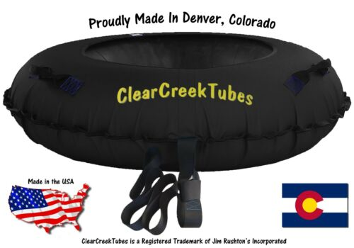 """TOWABLE SNOW TUBE COMBO WITH MATCHING SEAT CUSHION HUGE 44/"""" INFLATED"""