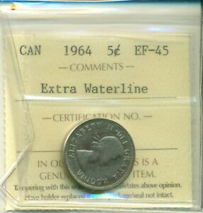 ICCS-Canada-1964-5-cents-EF-45-Extra-Waterline-XOL-310