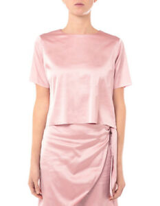 NEW-Lulu-amp-Rose-Luna-Satin-Tee-Blush